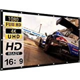 Projector Screen 120 inch 16:9 HD 4K Movies Screen Highbrightness Portable Widescreen Foldable Anti-Crease Indoor Outdoor Pro