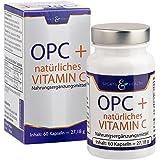 OPC + Vitamin C Kapseln - Mit Zertifikat - OHNE Künstliches Vitamin C - 285mg Traubenkernextrakt - 200mg Reines OPC Pro Vegane Kapsel - 2 Monatsvorrat - Made in Germany