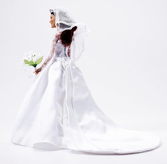 Amazon.es: Arklu Princesa Catherine Doll boda | muñeca Edición Limitada de Coleccionista de novia Kate Middleton: Juguetes y juegos