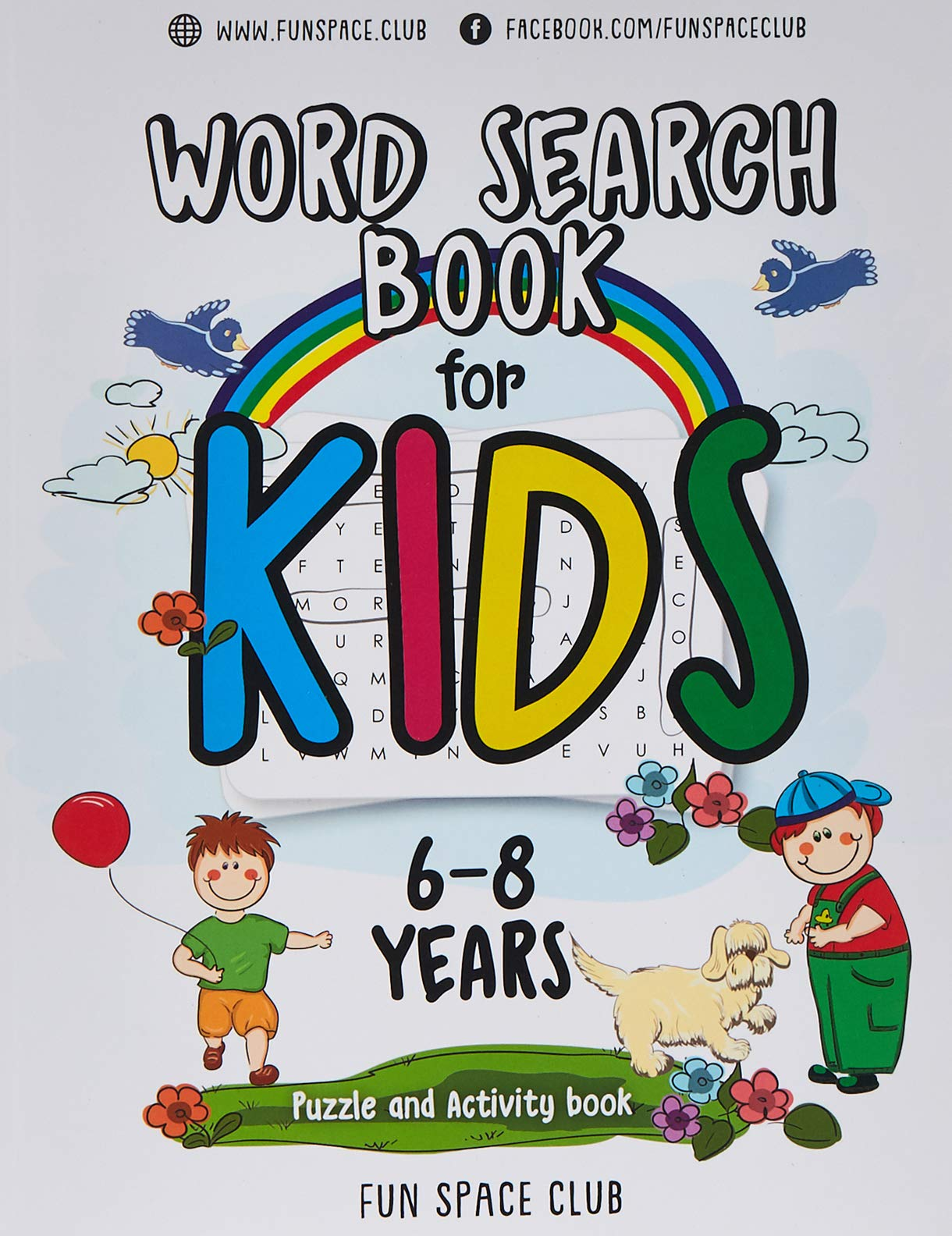 Fun Learn Kids Childrens Activity Books Word Search Educational Colouring Puzzle