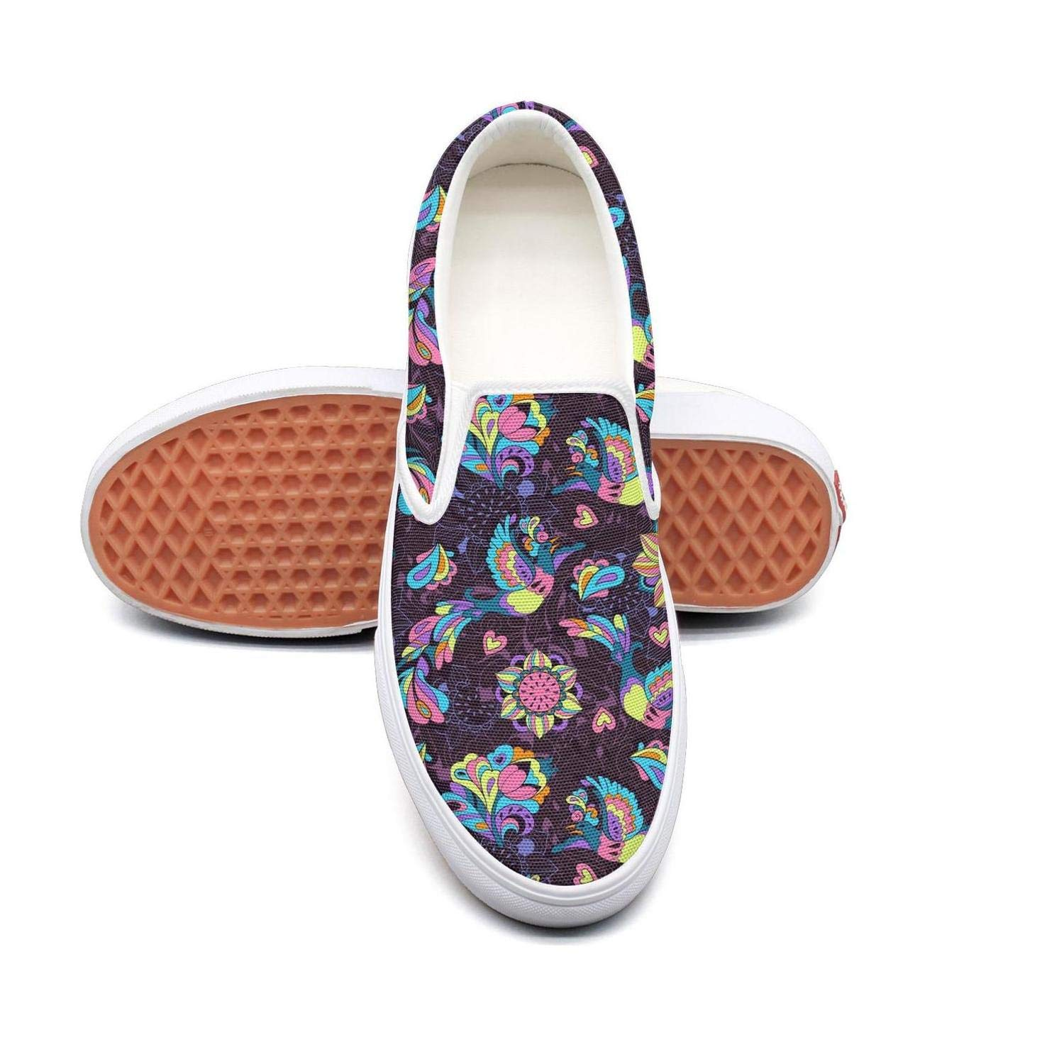 KJGDFS Sunflower Flower with Bees Running Shoes Canvas Daily for Women