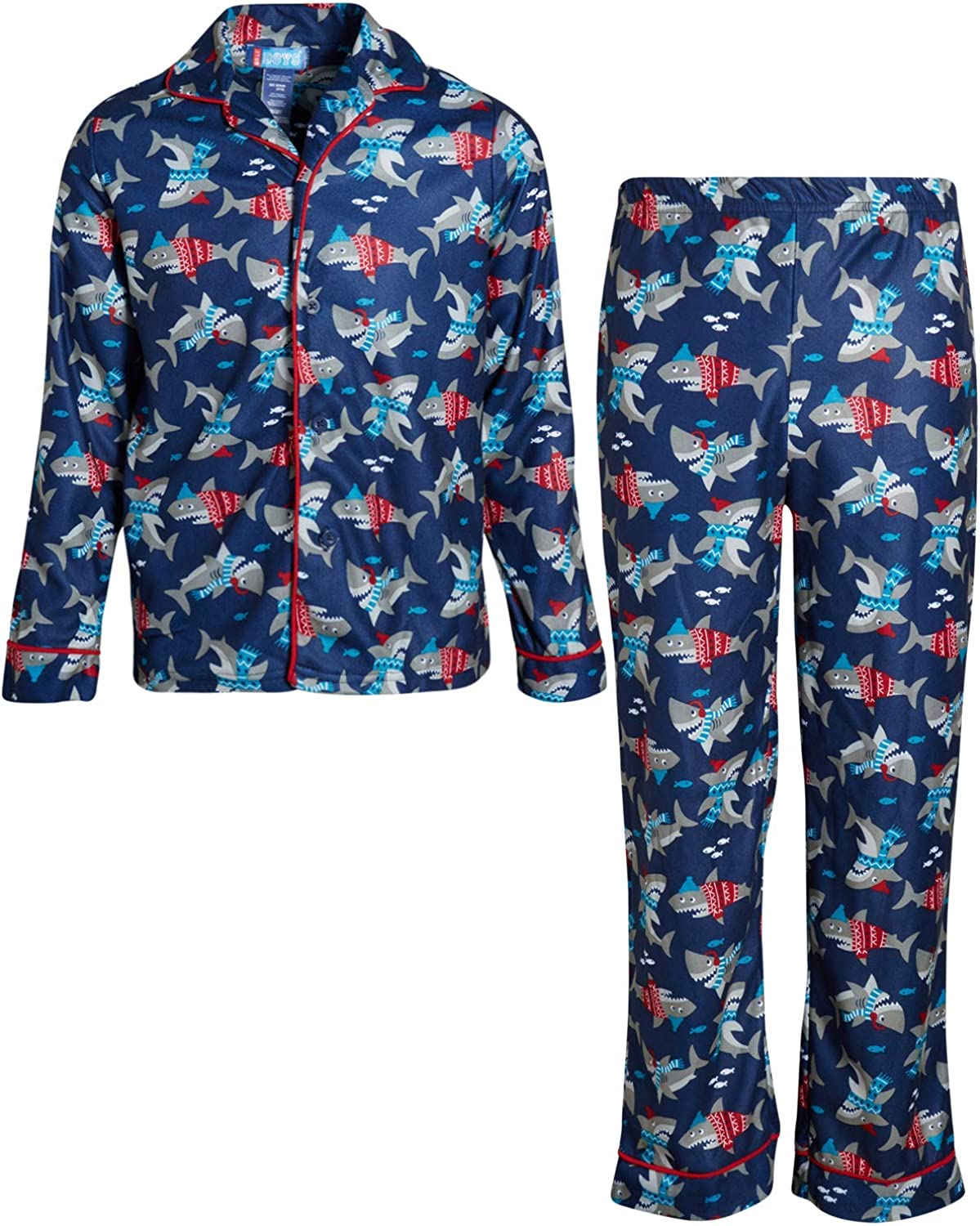Only Boys 2-Piece Sleepwear - Button-Up Pajama Coat and Pant Set
