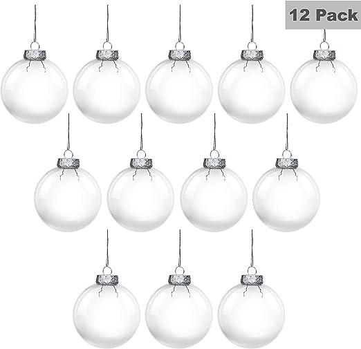 Bola de Navidad (Pack de 12) - Bola Navidad Redonda Transparente ...