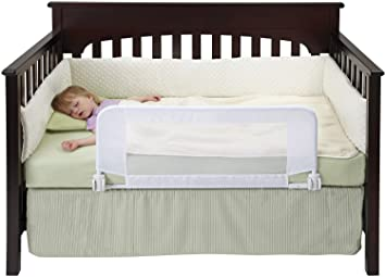 Hiccapop Safe Sleeper Convertible Crib Bed Rail For Toddler With Reinforced Anchor Safety