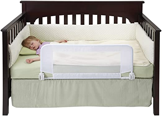 DexBaby Convertible Crib Bed Rail for Toddler with Reinforced Anchor Safety