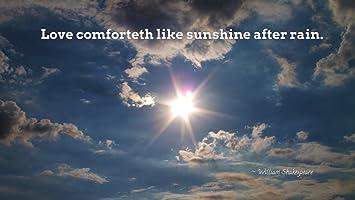 Athahdesigns Aquote Quotes Sunshine Rain Wallposter Amazonin Home