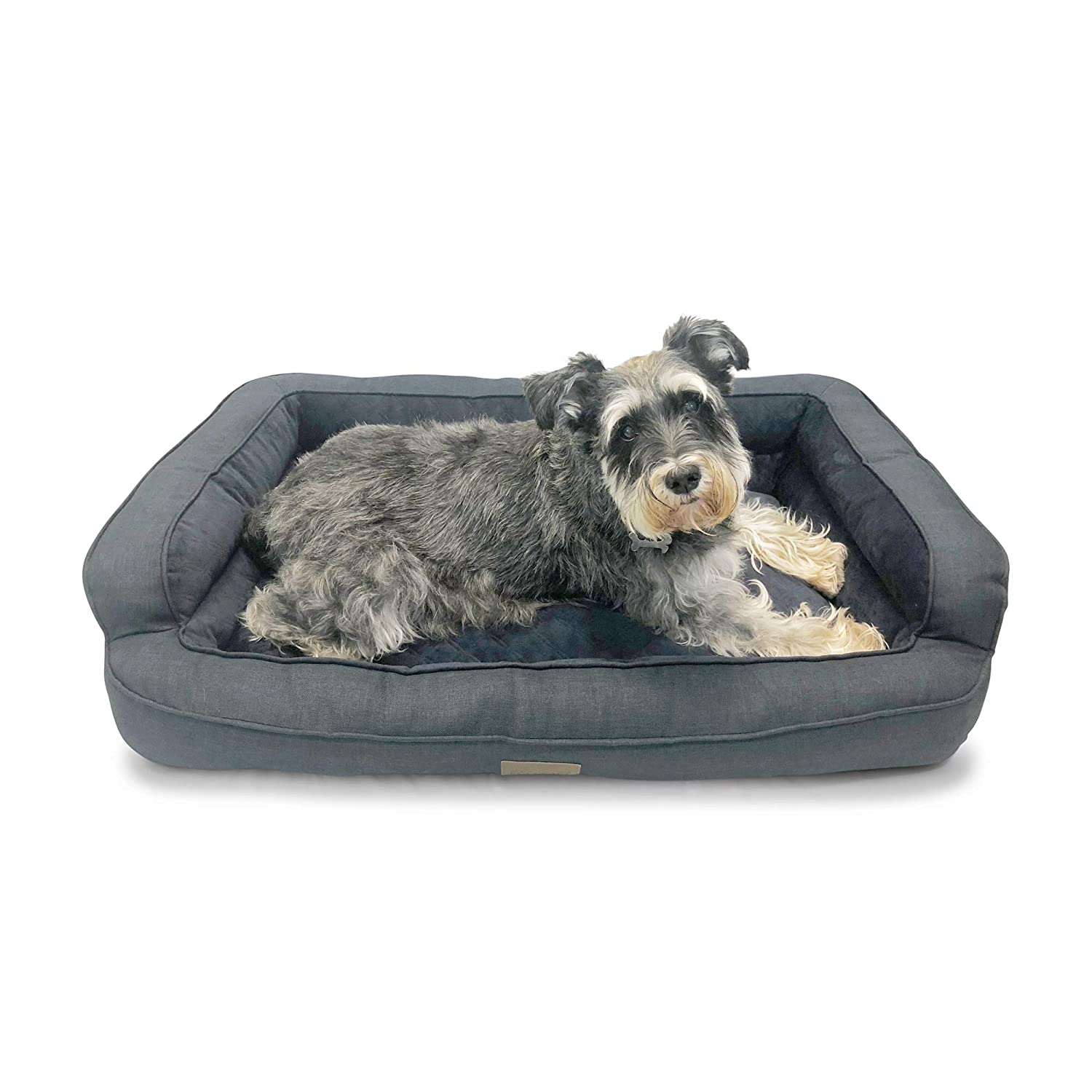 Pet Craft Supply Orthopedic Quilted Sofa-Style Couch Premium Chipped Memory Foam Pet Bed for Dogs Cats