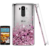 Atump LG G Stylo Case with HD Screen Protector for Girls Women, Luxury Glitter Diamond Quicksand Clear TPU Protective…