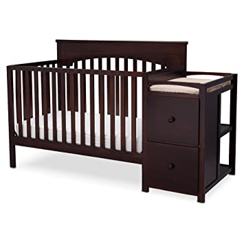 Amazoncom Crib Changing Table Combo Converts To ToddlerDayFull - Table converts to bed