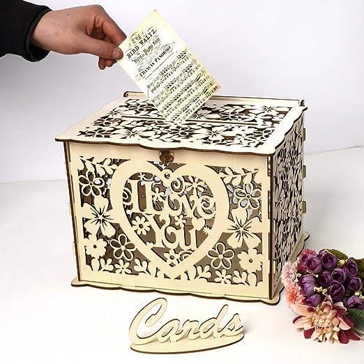 Caja de tarjetas de regalo de bodas I Love You Wedding Gift Box ...