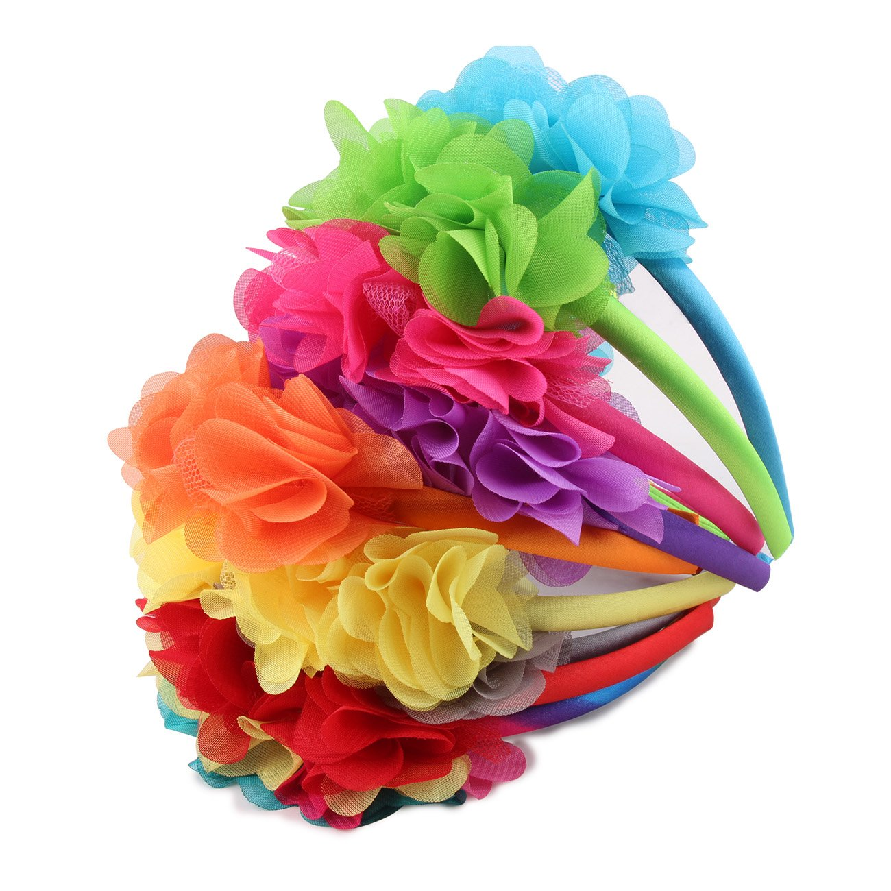 Flower Crown Headband Wedding Festival Parties Floral Hairband (bright colors)