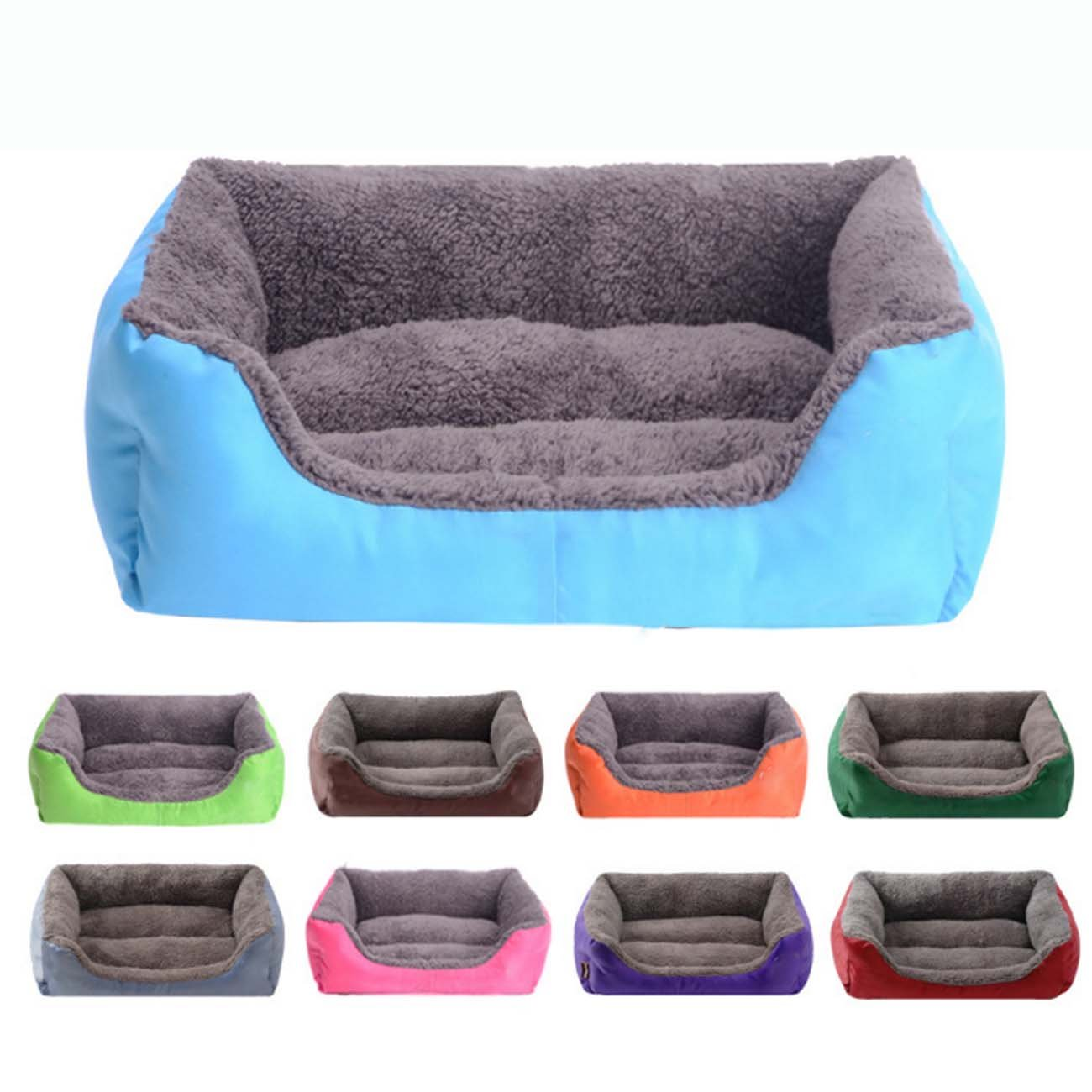 Purple XL Purple XL Large Pet Bed, Kitten Washable Pet Comfortable Self Warming Nest Mat Cat Pad Waterloo Rectangle Puppy Pet Dog Bed Cushion House with Soft Fleece Lining (color   Purple, Size   XL)