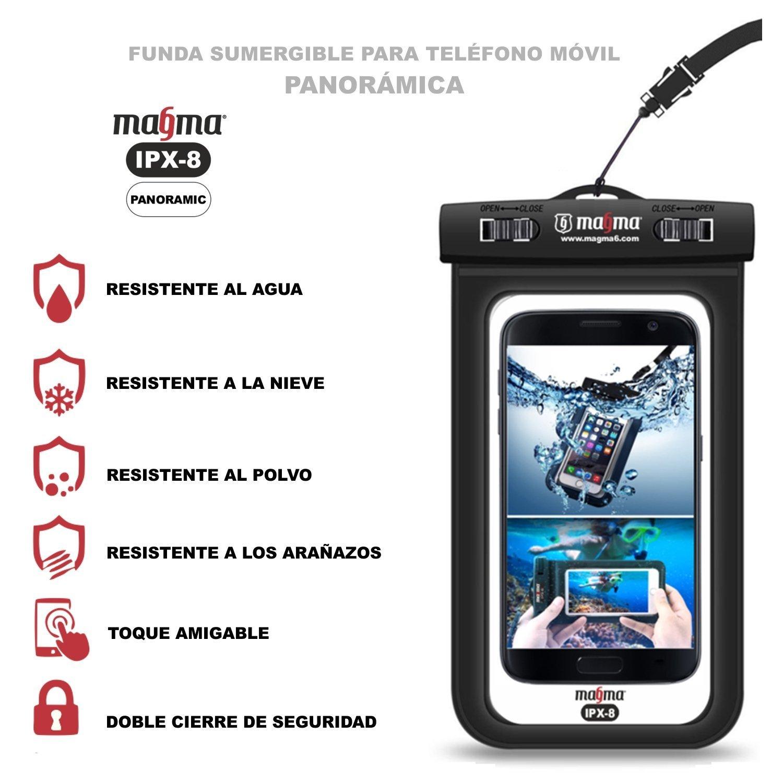 Funda sumergible universal para móvil . Bolsa impermeable para teléfonos hasta 6,2 pulgadas. Estanca IPX8. iPhone 7 / 7plus / 6 plus , Galaxy S8 / S8+/ S7 ...