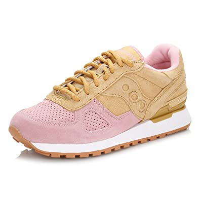 9e71d3f5d481 Saucony Mens Tan   Pink Shadow Original Cannoli Trainers  Amazon.co.uk   Shoes   Bags