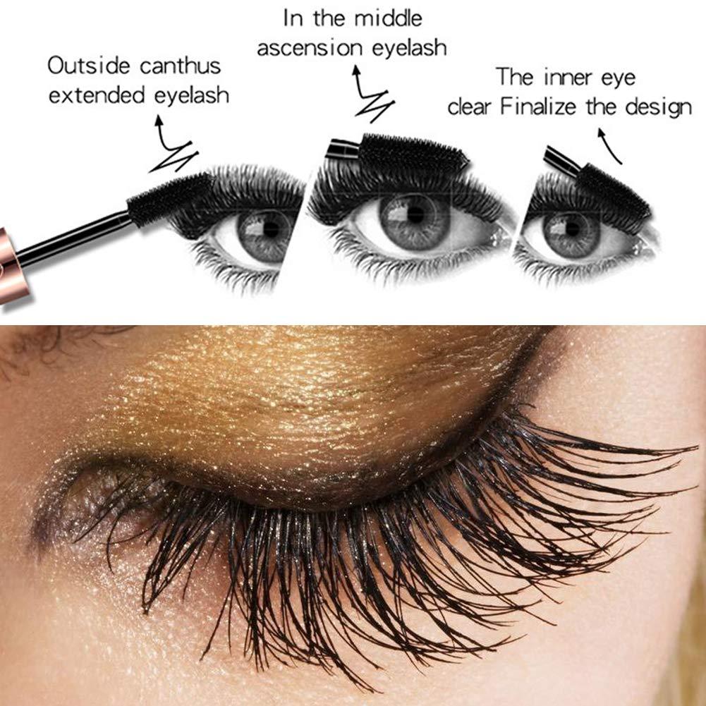 1015991fca5 Amazon.com : 4D Silk Fiber Eye Lash Mascara With Eyeliner Stamp, Thrive  Liquid Extension, Best for Eyelash Thickening & Lengthening, Long Lasting  Waterproof ...