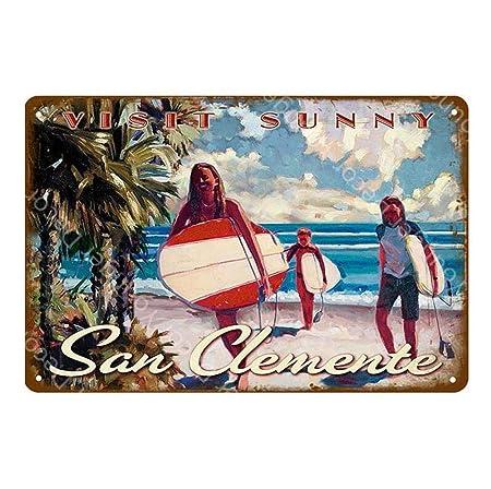 shovv Cartel de Chapa Pintura de Metal Carteles de Playa de ...
