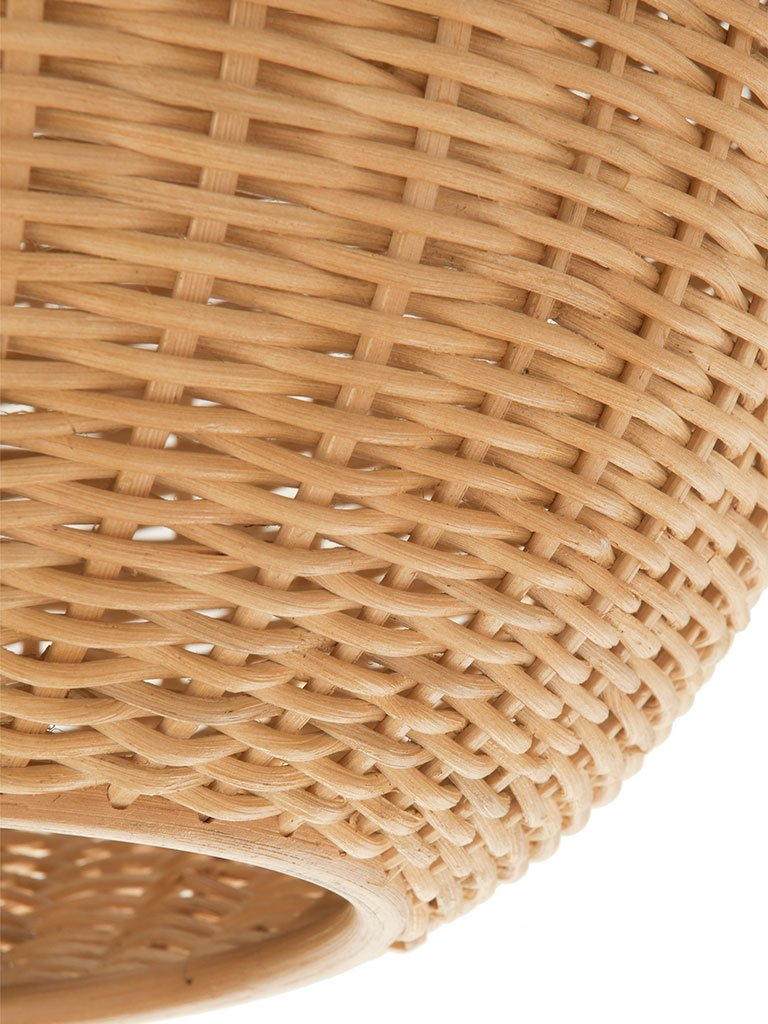 KOUBOO 1050030 Wicker Ball Pendant Lamp, Natural