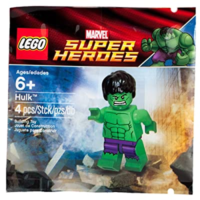 LEGO Marvel Super Heroes Exclusive Mini Figure Set #6001095 Hulk with Ripped Purple Pants Bagged: Toys & Games