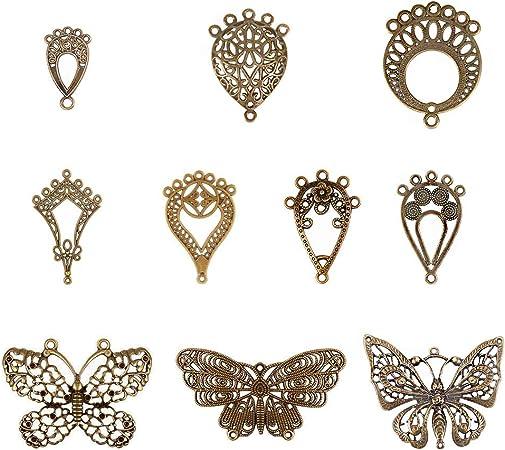 120PCS Antique Bronze Style Alloy Little Connector Charming Pendant Finding