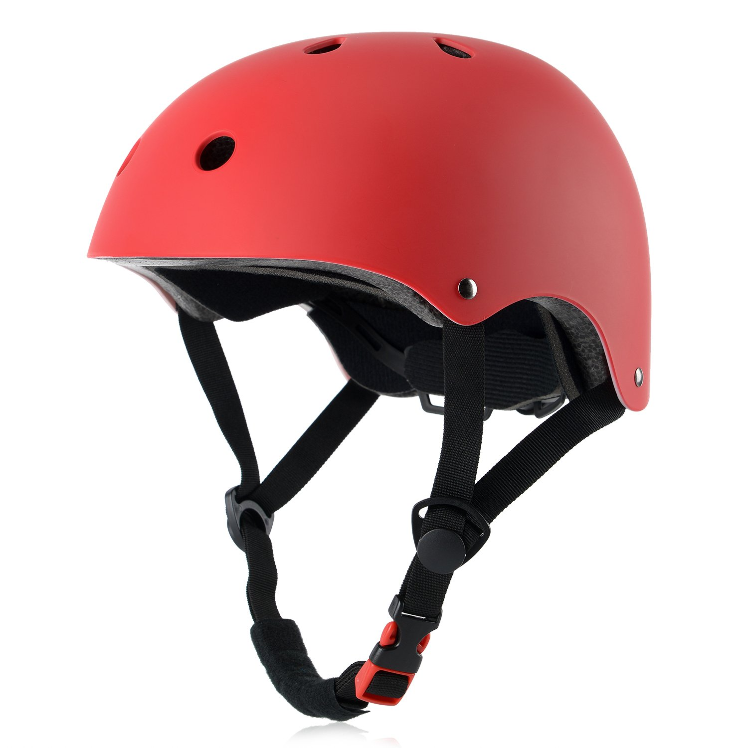 Ouwoer Kids Bike Helmet, CPSC Certified, Adjustable and Multi-Sport, from Toddler to Youth (Red)