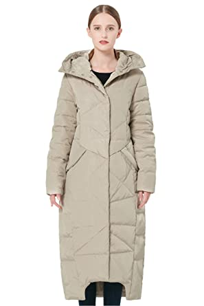 c733ff5c5f3909 Amazon.com: Orolay Women's Puffer Down Coat Winter Maxi Jacket with ...