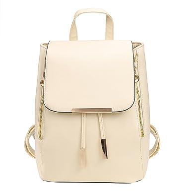Amazon.com  PU Leather Backpack for Girls Schoolbag Mini Casual ... b39fa4d02108a