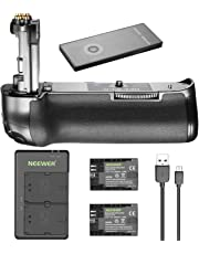 Neewer 2.4G Wireless Remote Control Battery Grip Replacement for Canon BG-E20 for Canon 5D Mark IV Camera, and 2 Pieces 2000mAh LP-E6 LP-E6N Replacement Rechargeable Battery and Dual Battery Charger