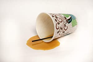 Realistic Food Replicas New! Real Looking Faux Spilled Cup of Coffee to Go