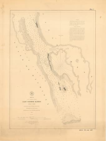 Amazoncom 8 x 12 inch 1854 US old nautical map drawing chart of