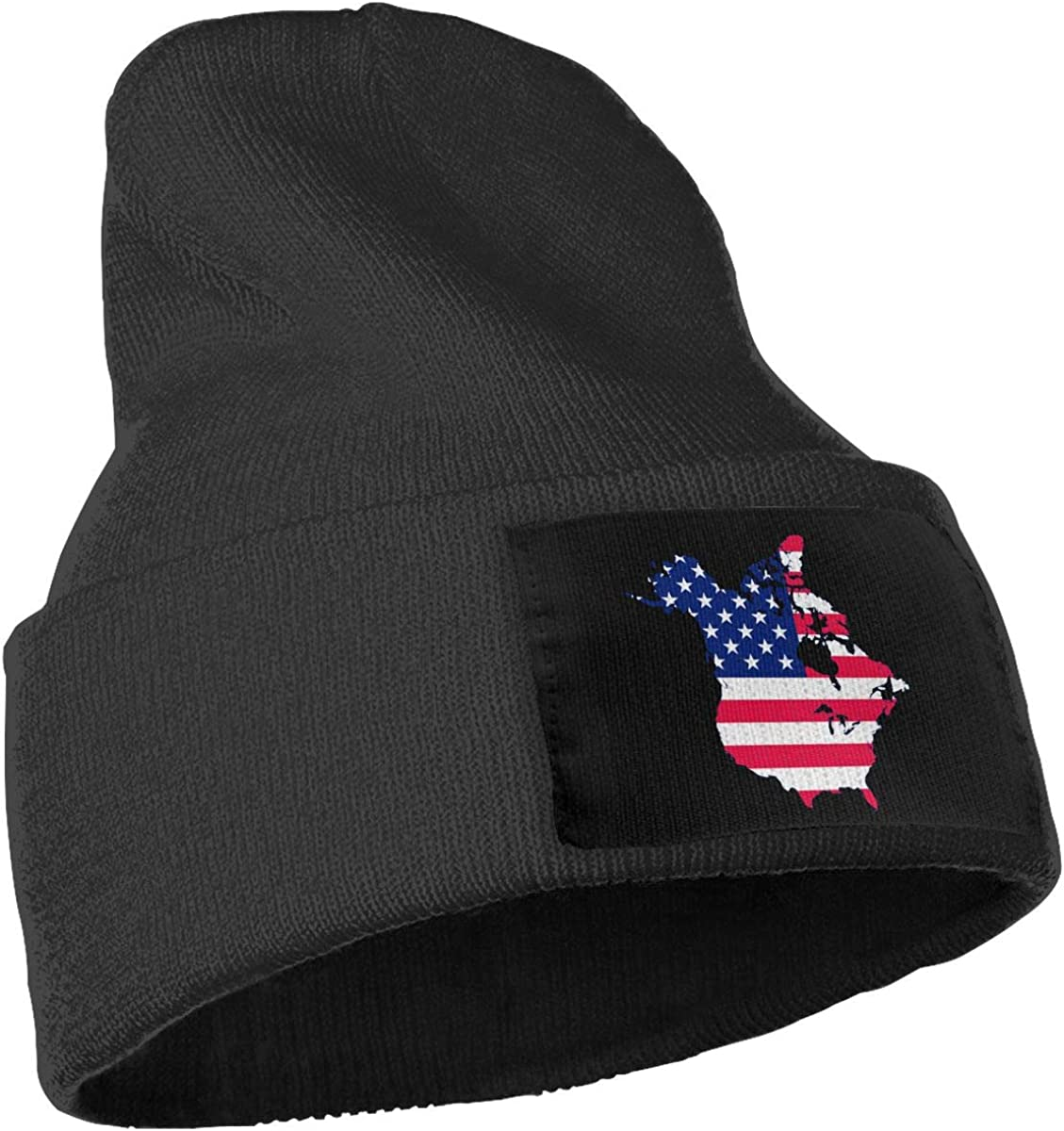 Men /& Women Flag Map of Canada and United States Outdoor Fashion Knit Beanies Hat Soft Winter Skull Caps