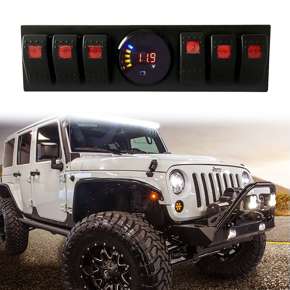 Jeep Wrangler Jk Jku 2007 2018 Overhead 6 Rocker Switch Pod Panel Dash Switches Assemblies