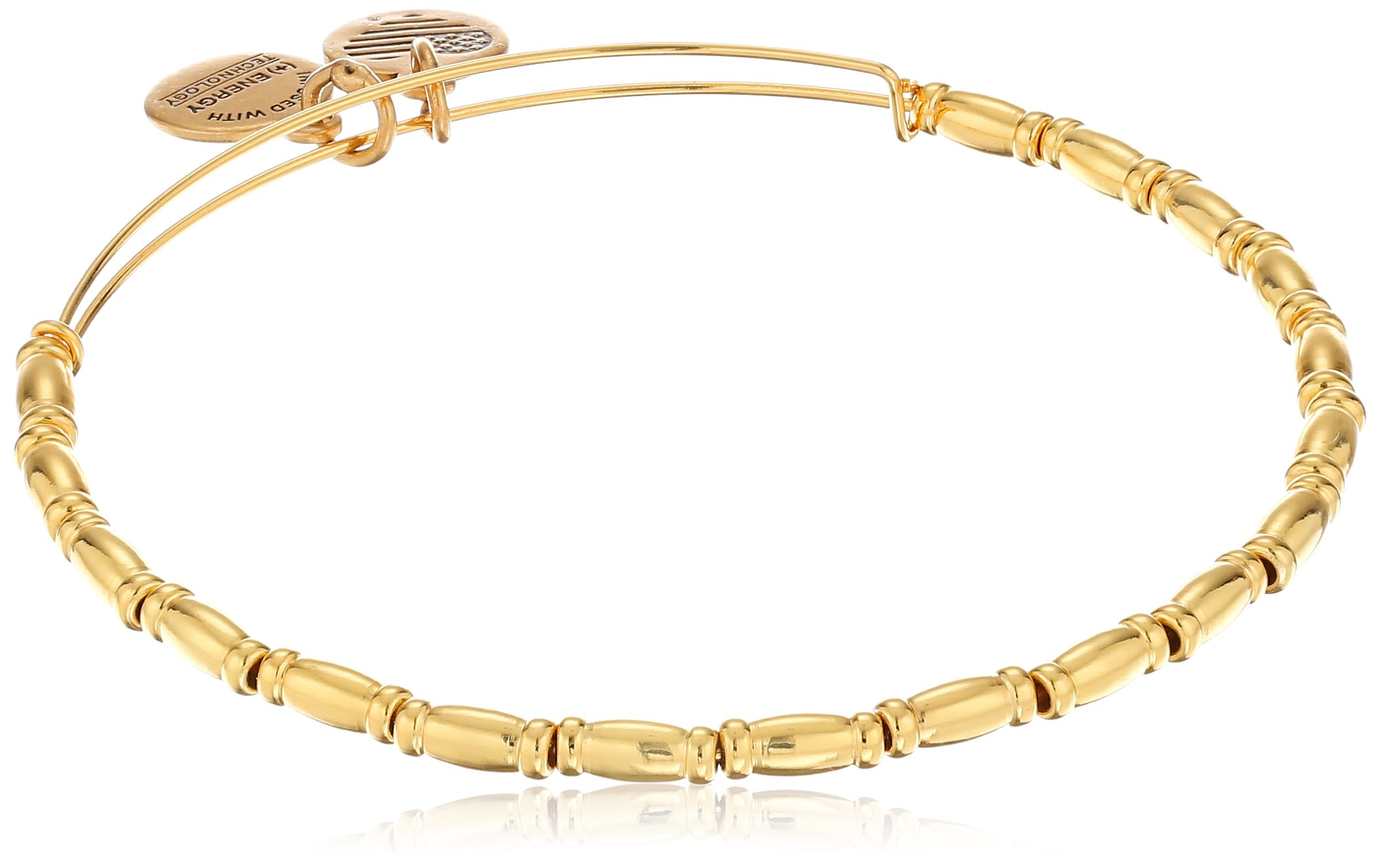 Alex and Ani Reed Shiny Gold Finish Bracelet