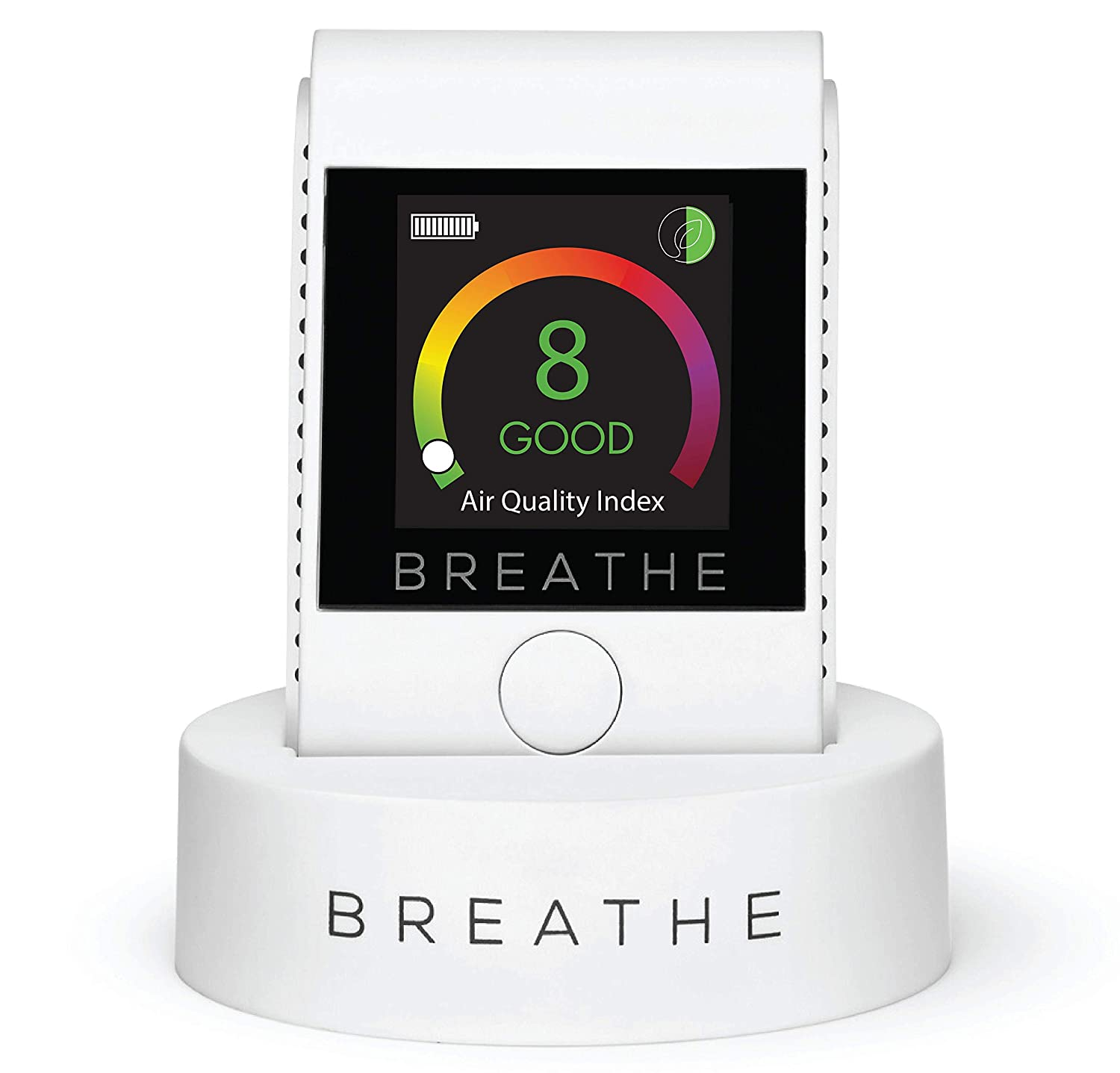 BREATHE|Smart 2 Personal Air Quality Monitor, Measures Outdoor and Indoor Air Quality. Monitors Dust, Smoke, PM 2.5 Air Pollution - Reduce Your Exposure to Toxic Air.