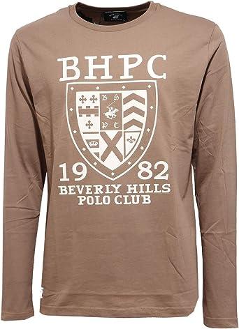 Beverly Hills Polo Club 6424J Maglia uomo broen Cotton t-Shirt ...