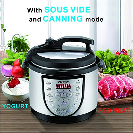 Amazon.com: Electric Pressure Cooker 4Qt Slow Cook ...