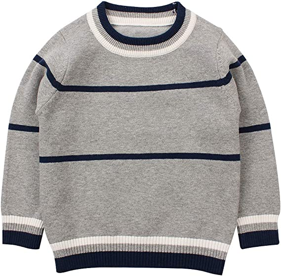 Peecabe Knitted Baby Toddler Boys Sweater Cotton Round Neck Winter Kids  Sweaters Long Sleeve Striped Pullover for Girls: Amazon.ca: Clothing &  Accessories