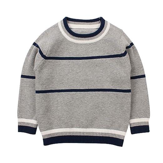 52fd8285e Amazon.com  Baby Boy Sweater Children Cardigan for Spring O-Neck ...