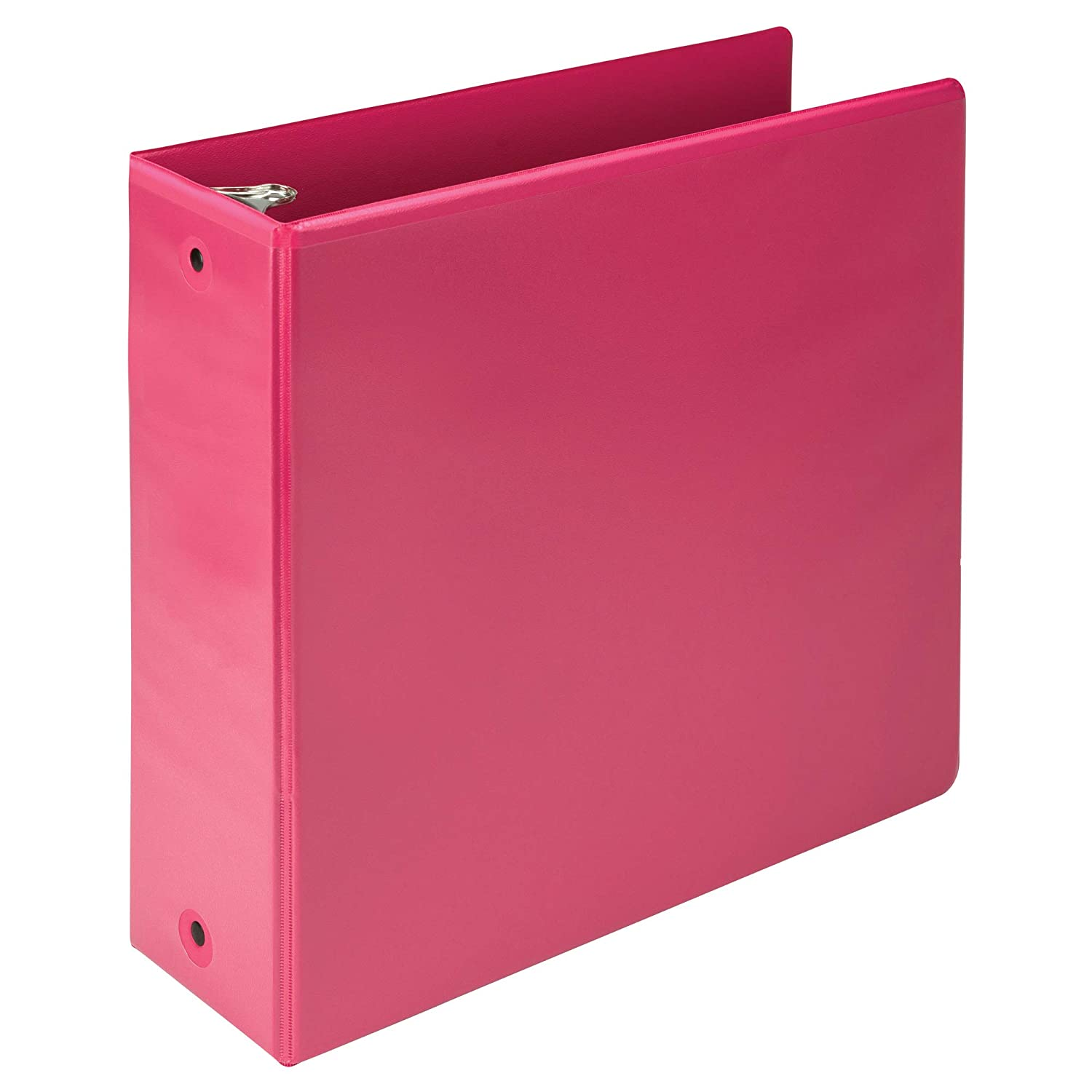 Samsill Earth's Choice Biobased 3 Ring View Binders, 4 Inch Round Ring, Up to 25% Plant Based Plastic, USDA Certified Biobased, Customizable Cover, Berry Pink