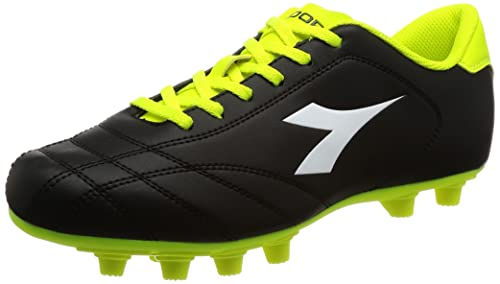 Diadora Da Uomo 6 MDPU FOOTBAL Scarpe PLAY nero nerobianco 7 UK