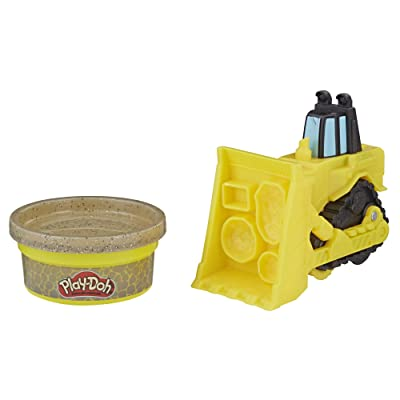 Play-Doh Wheels Mini Bulldozer Toy with 1 Can of Non-Toxic Stone Colored Buildin' Compound: Toys & Games