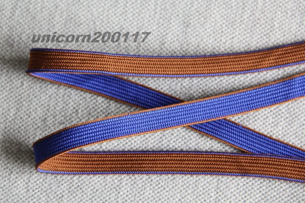 silk Reproductions WW II Japanese Army officer sword tassel blue brown