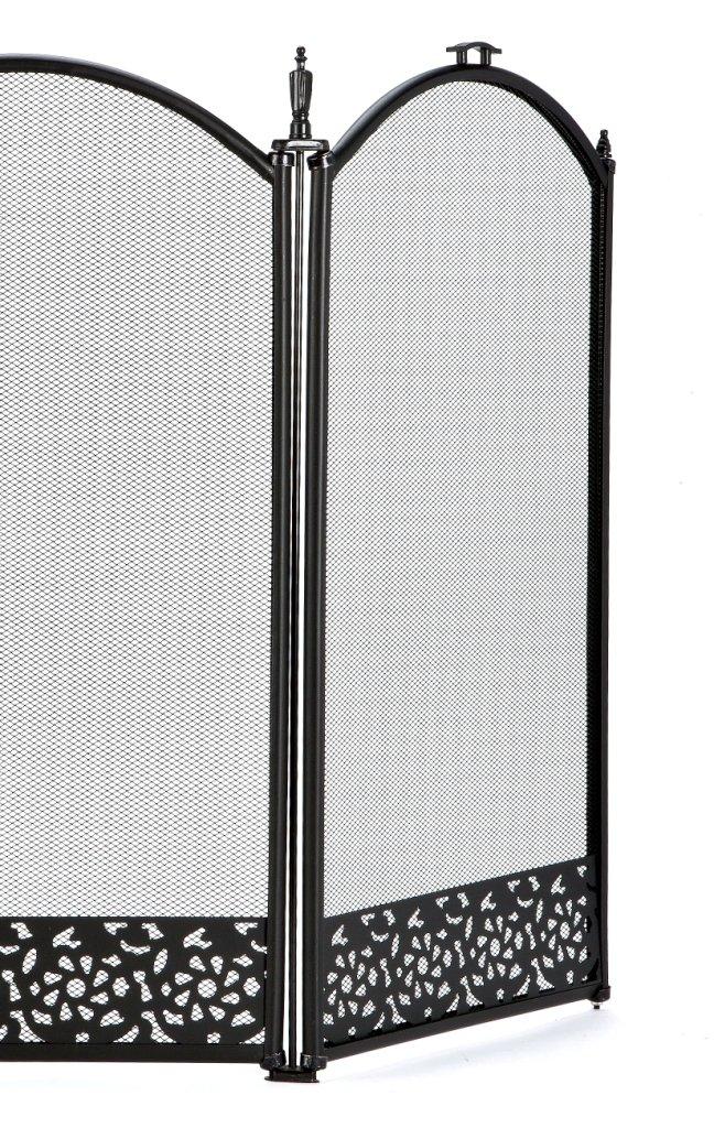 Inglenook 3 Panel Decorative Black Fire Guard by Inglenook FIRE07