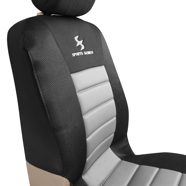 schwarz WOLTU AS7267 Sitzbez/üge Schonbezug Auto f/ür PKW ohne Seitenairbag