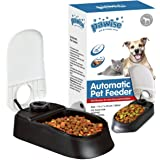 PAWISE Automatic Pet Feeder for Dogs and Cats, Food Dispenser Station with Timer, 100% BPA Free, Dishwasher Safe, Great…