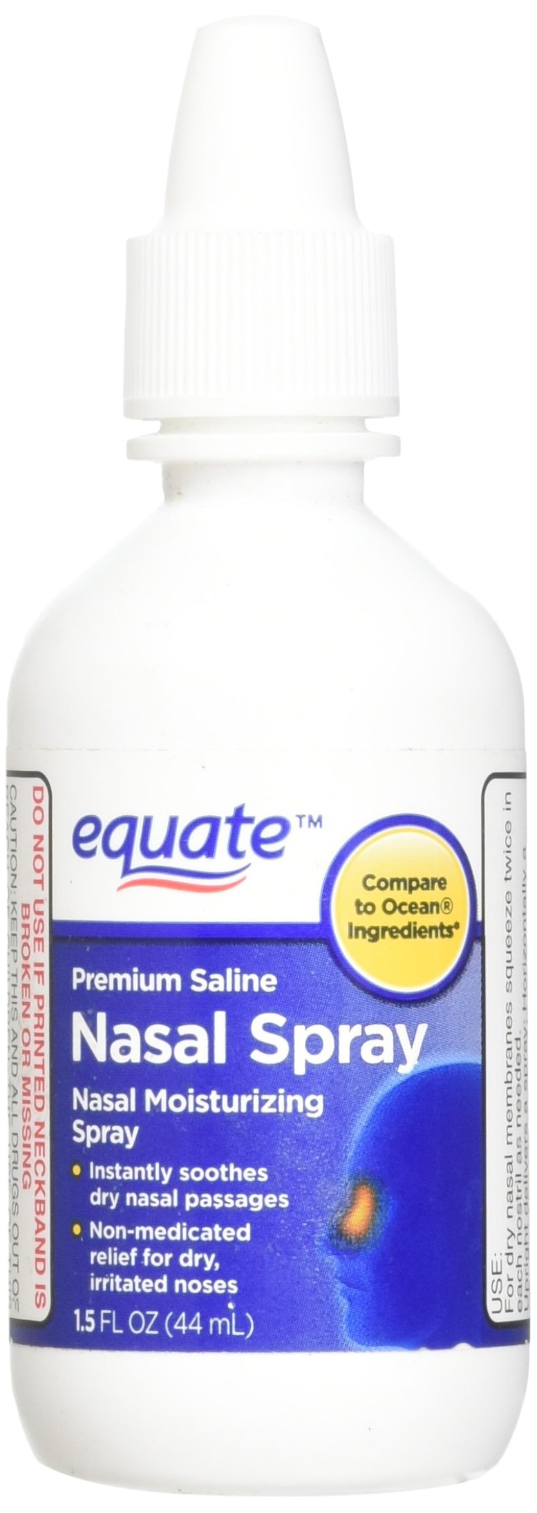 Equate - Saline Nasal Spray, 1.5 oz (Compare to Ocean Ingredients)