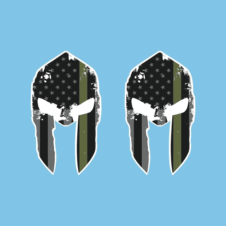 Autodomy Pegatinas Casco Espartanos Estrellas Pack 2 Unidades para Coche o Moto (Verde): Amazon.es: Coche y moto