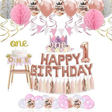 1st Birthday Girl Decorations Princess Theme