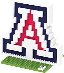 FOCO NCAA Arizona Wildcats 3D Brxlz Team Logo Building Blocks Set3D Brxlz Team Logo Building Blocks Set, Team Color, One Size