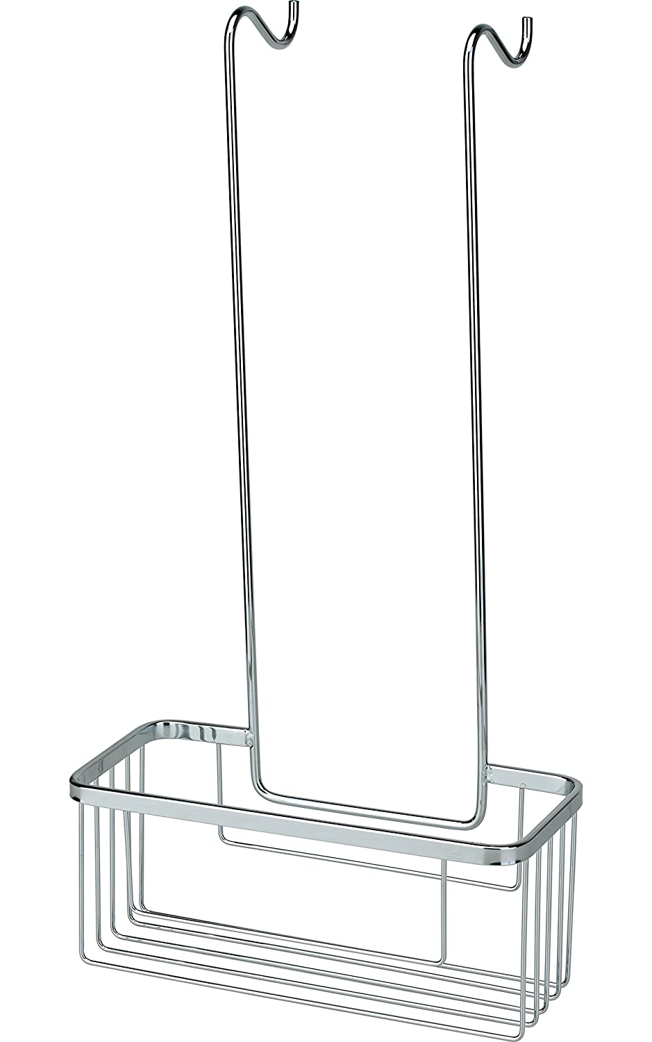 Chrome Shower Hook Over Caddy Basket Organiser - Rust Resistant (Screen Door Caddy) Tailored-Plumb