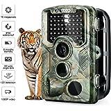 """ENKEEO Wildkamera PH760 - Tierkamera 16MP 1080P Full HD Fotofalle 47pcs IR LEDs 20m Infrarote Nachtsicht IP56 wasserdicht mit 0,2 Sekunden Triggerzeit 2,4"""" LCD Tierbeobachtungskamera"""